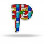 Letter P block designer — Foto de Stock