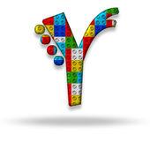 Letter Y block designer — Fotografia Stock
