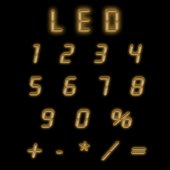 Led numbers brown — Photo