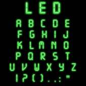 Led alphabet green — Stock Photo