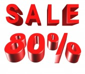 Sale - price reduction of 80 percent — Stock Photo