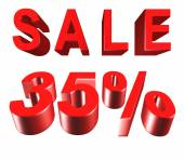 Sale - price reduction of 35 percent — Stock Photo