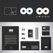 Limitless Abstract Logo Template and Identity — Stock Vector