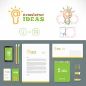 Newsletter Ideas Logo and Identity Template — Stockvektor