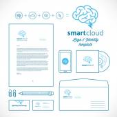 Smart Cloud Logo and Identity Template — Stockvektor