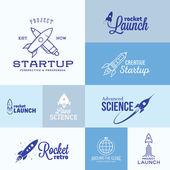 Vector Rocket Logo Set — Stock Vector