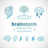 Brainstorm Abstract Creative Logo Template — Stock Vector