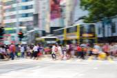 Pedestrians in Business District of Hong Kong — Stock Photo