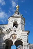 Belfry of Foros Church of the Resurrection in the Crimea — Stock Photo