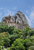 "Sacred Rock ""Invitation"", Aradhana Gala in Mihintale, Sri Lanka — Stock Photo"