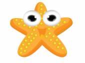 Cute starfish cartoon — Vettoriale Stock