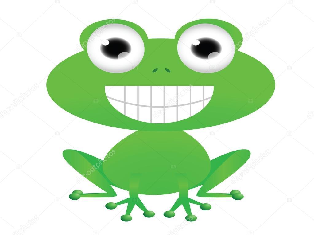 可爱青蛙卡通– 图库插图