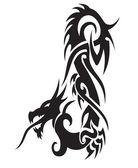 Snake dragon illustration — Stock Vector