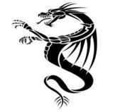 Dragons tattoo — Stock Vector