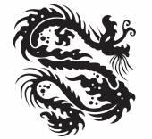 Black dragon icon — Stock Vector