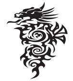 Big dragon illustration — Stock Vector