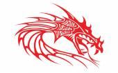 Red head dragon — Stock Vector