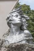 Fragment of a monument to Nina Poptsova in Pyatigorsk, Russia  — Stock Photo