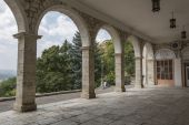Arches of the Academic (Elizabethan) gallery in Pyatigorsk, Russ — Stock Photo