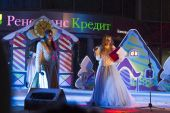 New Year's performance on the square in Pyatigorsk (Russia) — Stock Photo