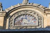 Decorative architectural elements of the building main narzan ba — Stock Photo