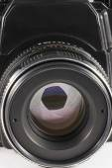 Camera lens with iris closeup — Zdjęcie stockowe