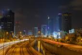 Night view towards the north of Tel Aviv — Stock Photo