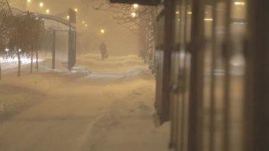 Snowstorm — Wideo stockowe