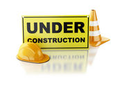 Under construction concept. 3d illustration — Stock Photo