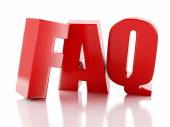 Frequently Asked Questions. FAQ concept. 3d illustration — Stock Photo