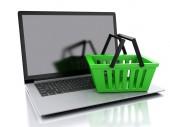 3d Shopping basket. Online shopping concept — Foto de Stock