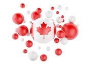 3d National flag of canada isolated on white background — Stock Photo