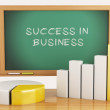 3d illustration. Graph, charts and blackboard. business success — Stock Photo #59531617