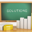 3d illustration. Graph, charts and blackboard. business solution — Stock Photo #59531627