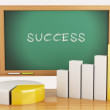 3d illustration. Graph, charts and blackboard. business success — Stock Photo #59531629