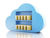 3d File storage in cloud. Cloud computing concept. — Stock Photo