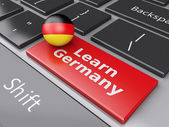 3d Learn Germany on computer keyboard. Education concept — Foto de Stock