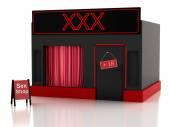 Sex shop. 3d illustration — Stock Photo