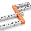 3d security concept. Crossword with letters. — Stock Photo #67434123