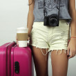 ������, ������: Young woman going on vacation
