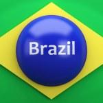 3d Brazil flag. — Stock Photo #70391369