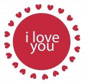 I love you. Vector illustration. — Stock Vector