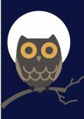Vector illustration of an owl. — Stock Vector