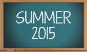 Summer written on blackboard. — Stock Photo