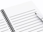 3d Notepad with pen. — Stock Photo