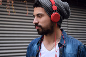 Young man with headphones. — Stock Photo