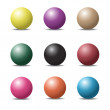 Set of colorful ball glossy spheres on white. Vector illustratio — Stock Vector #52509143