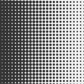 Vector halftone dots. Black dots on white background. — Stock Vector