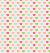 Colorful hearts seamless pattern vector illustration — Stock Vector