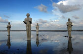 "Statues, called ""Survivors"" created by Indonesian artist Dadang Christanto — Stock fotografie"